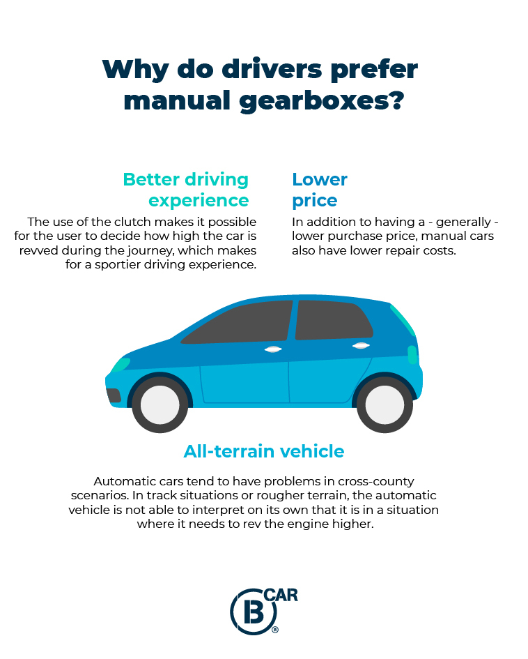 drivers prefer manual gearboxes