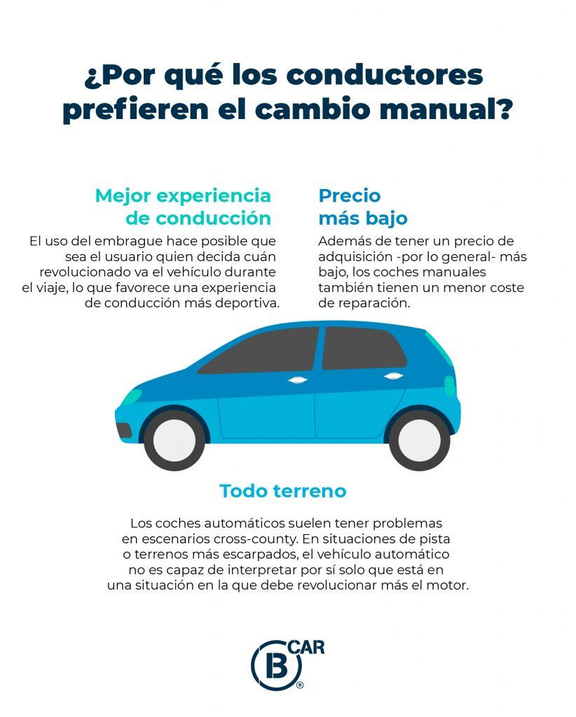 por qué los conductores prefieren la caja de cambio manual